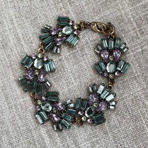 Jewelmint bracelet blue topaz, amethyst & peridot